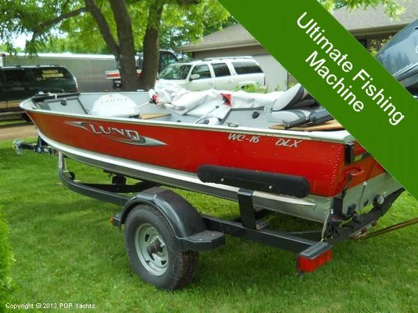 2010 used lund wc 16 dlx aluminum fishing boat for sale for Used lund fishing boats for sale