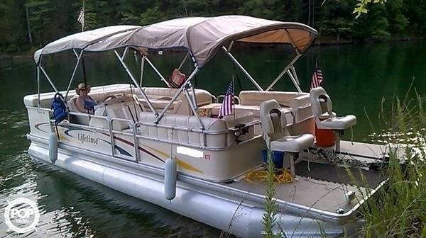 Used Lifetime Fisher 240 DLX Pontoon Boat For Sale