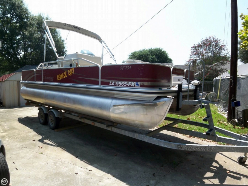 2011 used lowe suncruiser pontoon boat ski fish 23 sf234 for Used fishing pontoon boats for sale