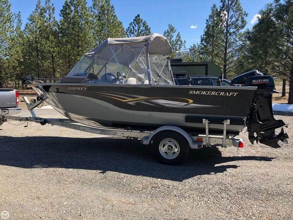 Used Smoker Craft 17 Osprey Aluminum Fishing Boat For Sale