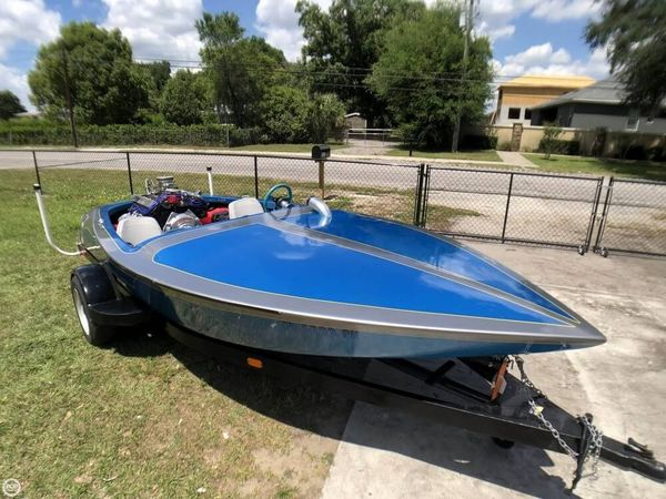 Used Custom Built STEVENS Boat V-Drive 17 Drag Boat High Performance Boat For Sale