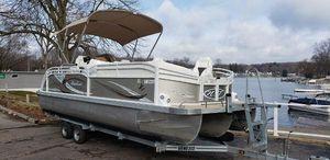 Used Jc Tritoon Marine Pontoon Boat For Sale