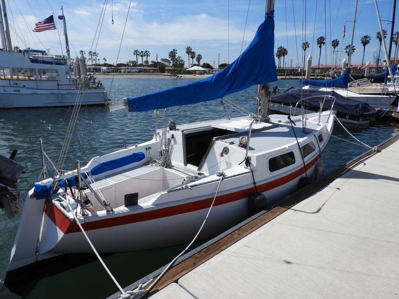 1972 Used Cal Jensen T/4 Racer and Cruiser Sailboat For Sale