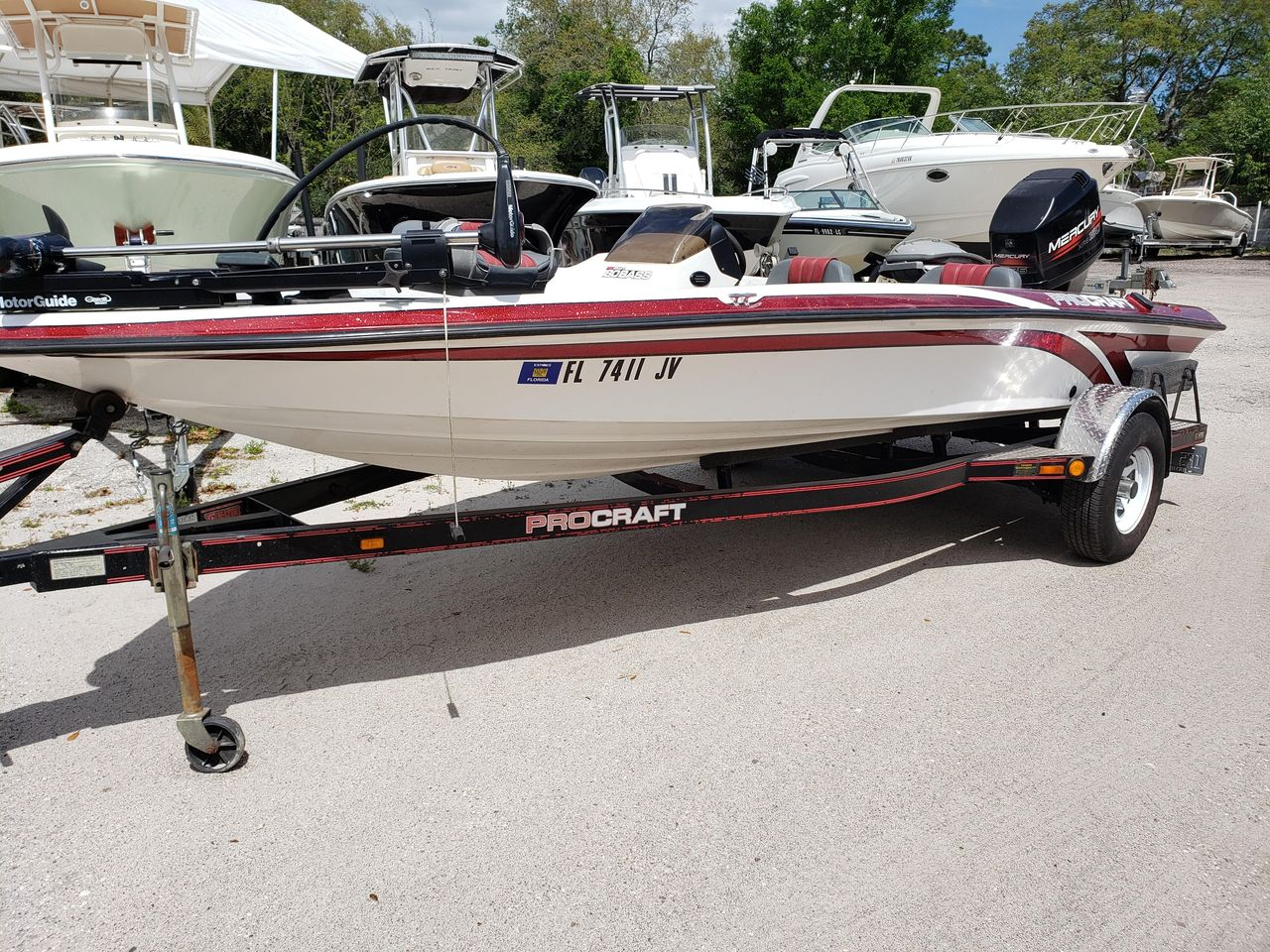 1999 Used Procraft 180 Bass Freshwater Fishing Boat For Sale