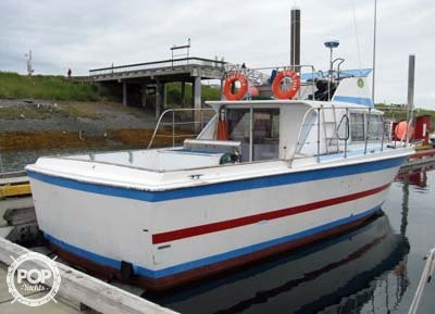 1968 used uniflite 36 x 12 sports fishing boat for sale for Alaska fishing boats for sale