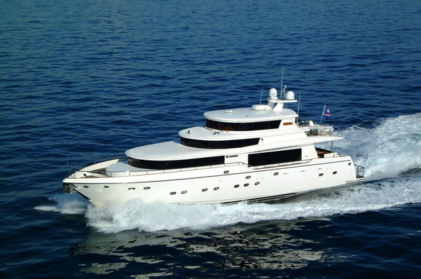 New Johnson 87 Motor Yacht Skylounge Pilothouse Boat For Sale