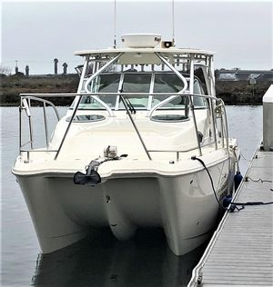 Used World Cat 290 EC Power Catamaran Boat For Sale