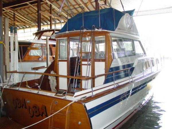 Used Chris Craft 36 Challenger Convertible Fishing Boat For Sale
