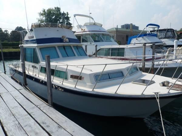 Used Burnscraft 41 Sedan Bridge Aft Cabin Boat For Sale