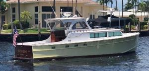 Used Huckins 34' Sportsman Express Cruiser Boat For Sale