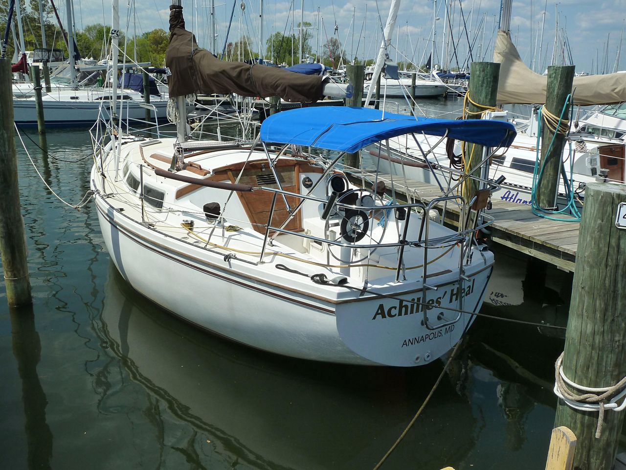 1984 Used Catalina 30 Cruiser Sailboat For Sale - $9,900