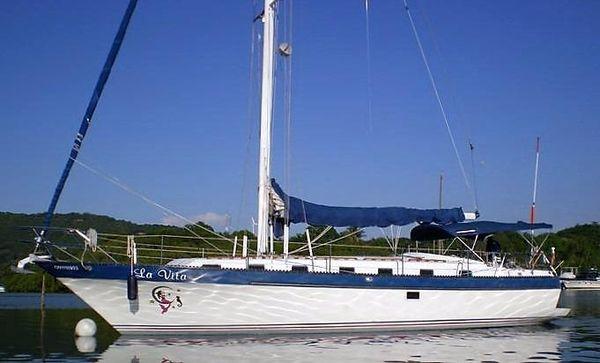 Used Lancer Yachts 42' Motorsailer Cruiser Sailboat For Sale