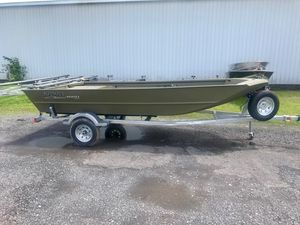 New Lowe Roughneck 1660 - TILLER Jon Boat For Sale