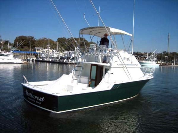 1983 used hatteras 32 flybridge convertible fishing boat for Hatteras fishing boat