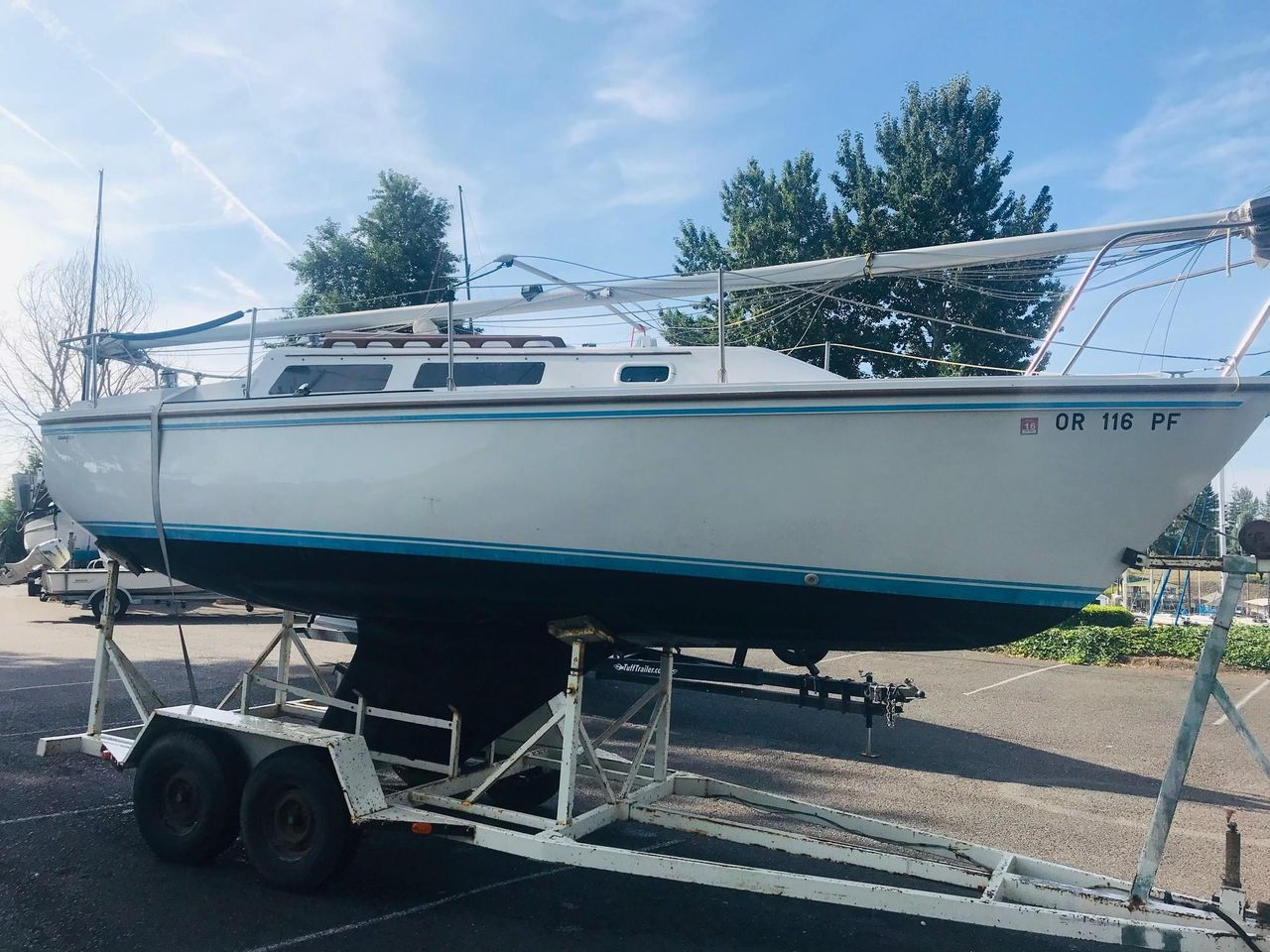 1987 Used Catalina 25 Cruiser Sailboat For Sale - $7,800