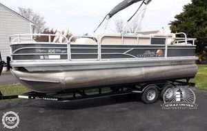 Used Sun Tracker 22 DLX Fishin Barge Pontoon Boat For Sale