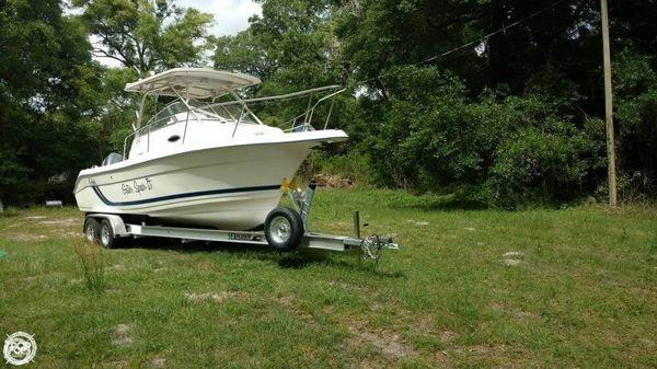 Used Cobia 240 Walk Around Walkaround Fishing Boat For Sale