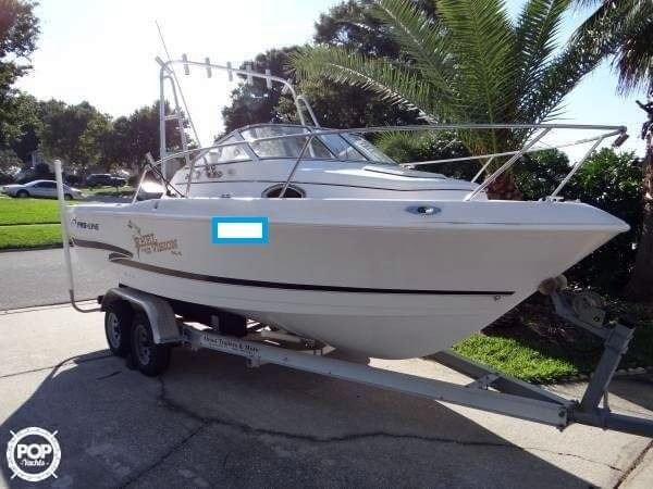 2000 used pro line 20 walkaround fishing boat for sale for Used fishing boats for sale in florida