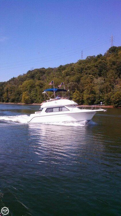 Used Carver 26 Command Bridge Express Cruiser Boat For Sale
