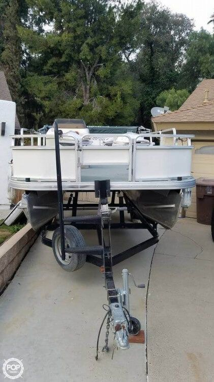 Used Sun Tracker 21 Fishing Barge Pontoon Boat For Sale