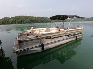 Used Harris Flotebote 250 Super Sunliner LX Pontoon Boat For Sale