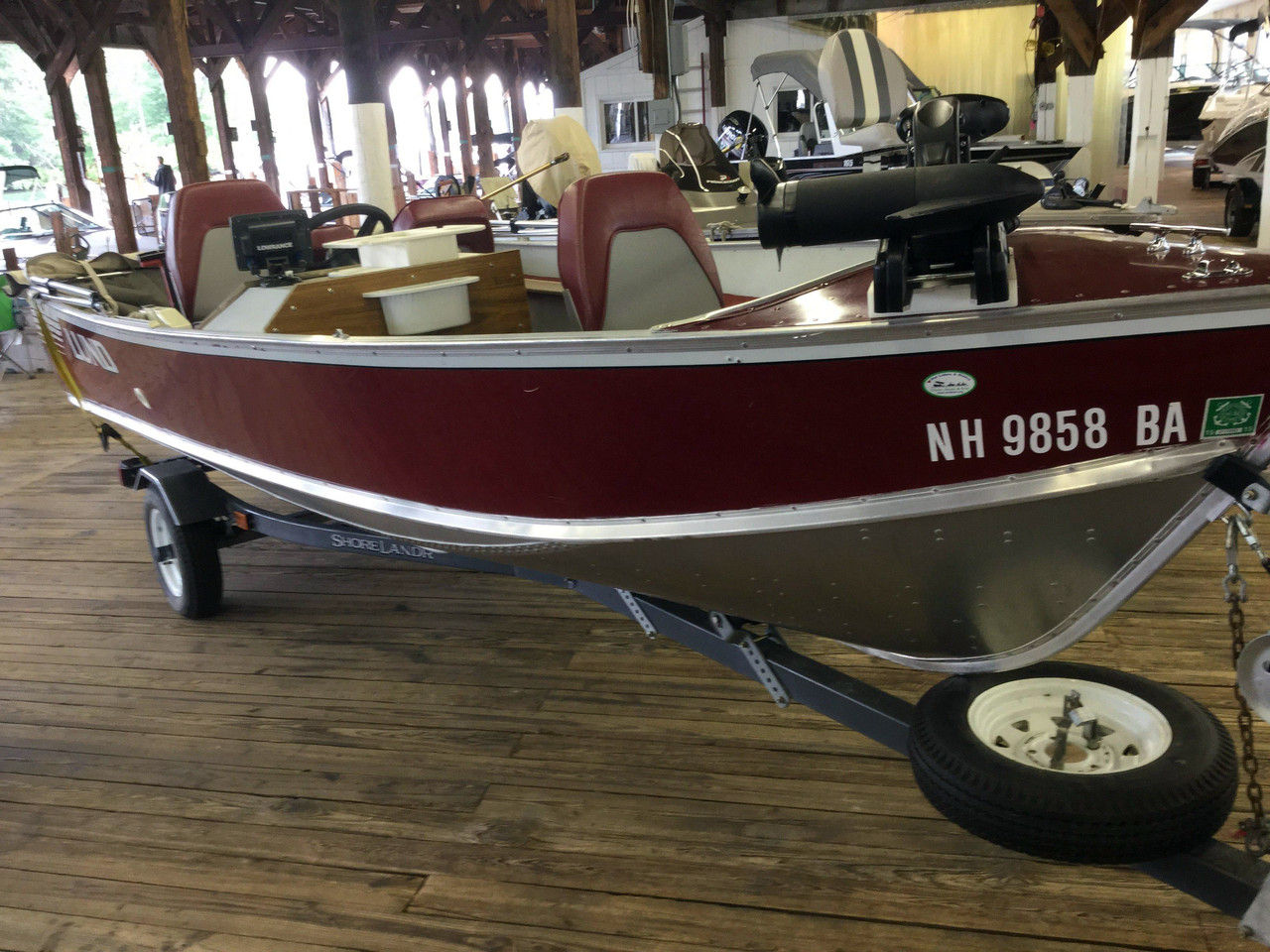 1989 used lund pike 16 d 11772 freshwater fishing boat for for Best freshwater fishing boats