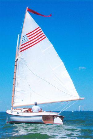 Used Herreshoff 18' Cat Boat Daysailer Sailboat For Sale