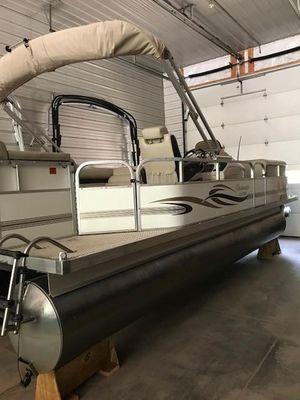Used Palm Beach Clearwater 220 Pontoon Boat For Sale