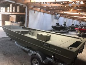New Lowe Roughneck 1860 Tiller Jon Boat For Sale