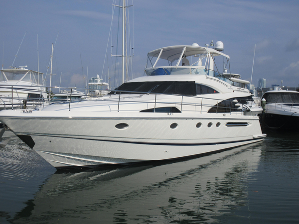 Used Fairline With Caterpillars Squadron 58 Motor Yacht For Sale