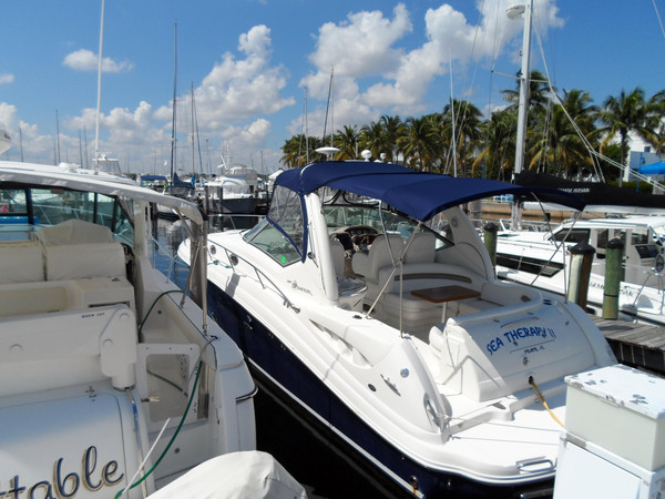 Used Sea Ray 340 Sundancer New Manifoldslow Hours XTRA Clean Boat Express Cruiser Boat For Sale