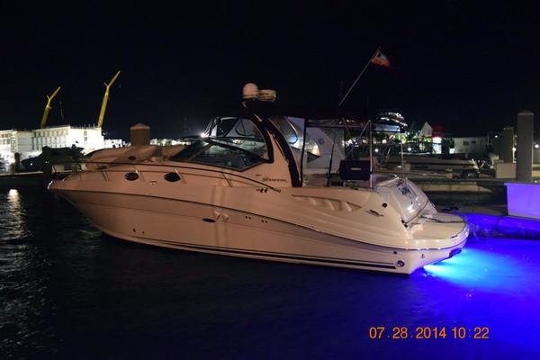 Used Sea Ray 340 Sundancer Bow Thruster Teak IN Salon Sat TV Cruiser Boat For Sale
