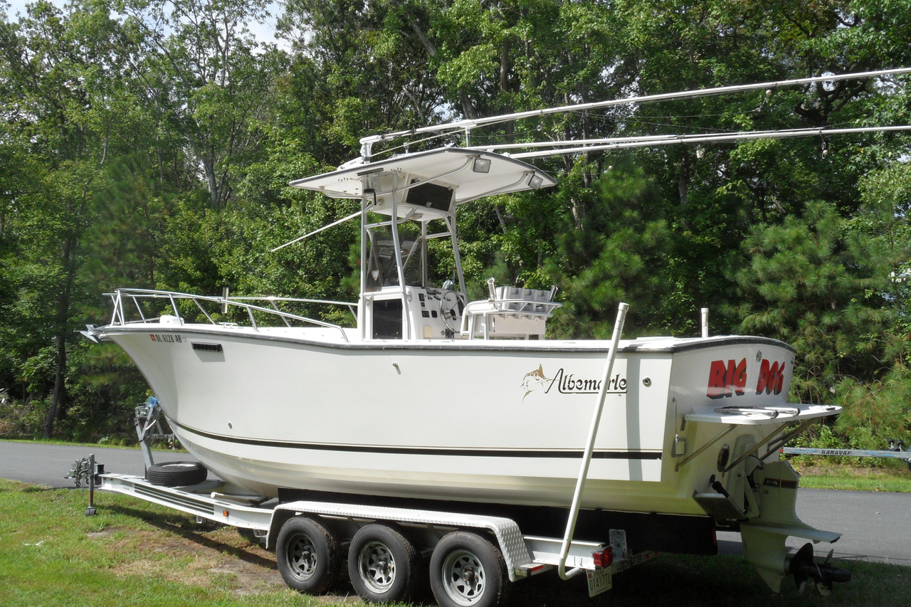 1994 used albemarle 262 center console center console for Center console fishing boats for sale