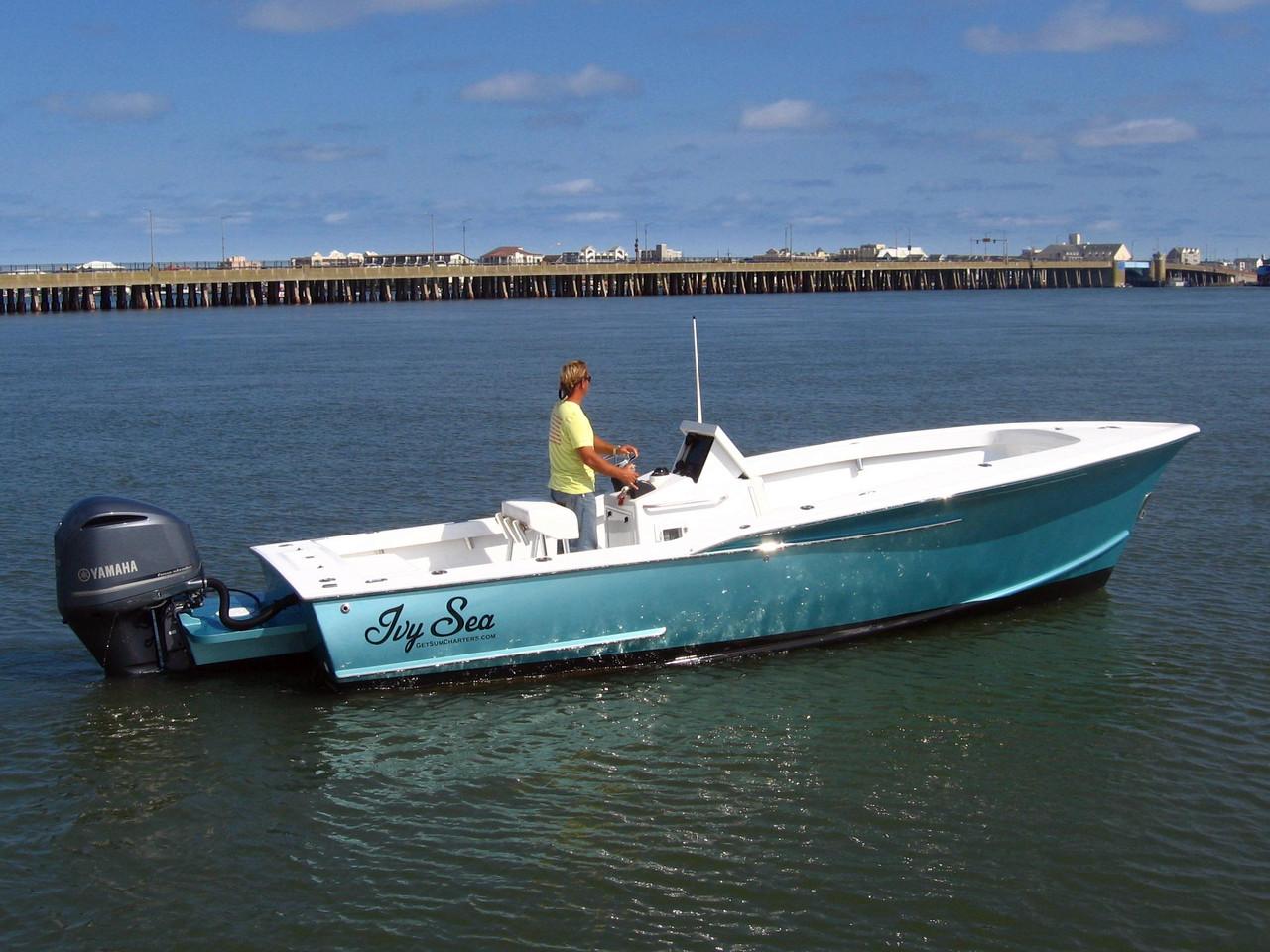 2014 used custom carolina sports fishing boat for sale for Custom fishing boats