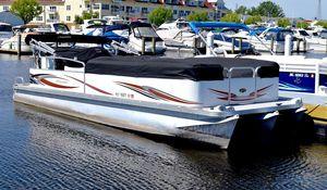 Used Manitou 24 Oasis Triple Tube Pontoon Boat For Sale