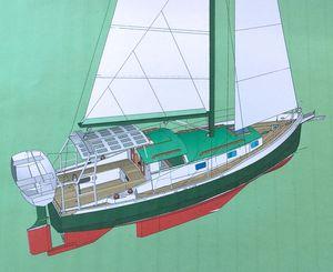 New Custom Pilot House Motorsailor Motorsailer Sailboat For Sale