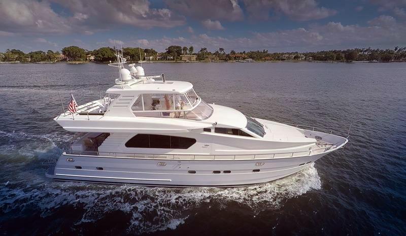 1999 used horizon 70 motor yacht motor yacht for sale for Used motor yachts for sale in florida