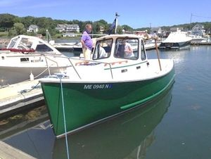 Used Atlas Boat Works Pompano Compact Cruiser Downeast Fishing Boat For Sale