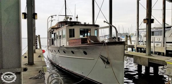 Used Custom Built Commuter Yacht 73 Antique and Classic Boat For Sale