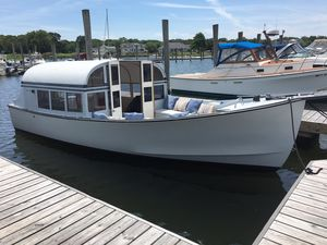 Used West Bay JIM BEAL Forward Cockpit Sedan Downeast Fishing Boat For Sale
