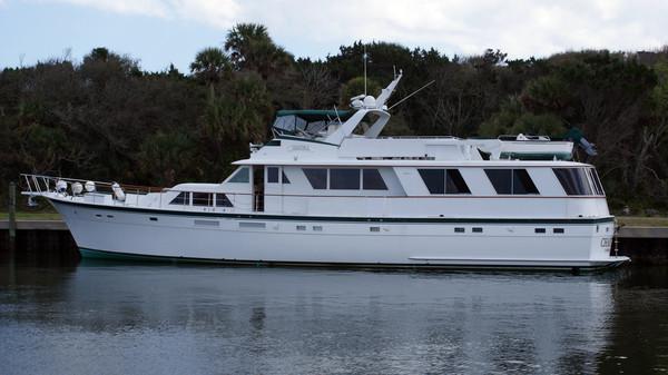 Used Hatteras Flybridge Motoryacht Extended Aft Deck Motor Yacht For Sale
