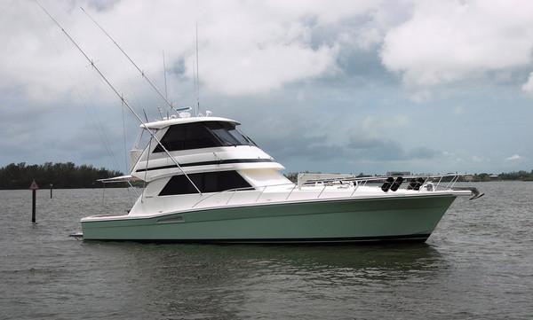 Used Riviera 48 Enclosed Bridge Convertible Fishing Boat For Sale