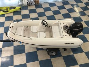 Used Mercury Inflatables Amanzi 350 Rigid Sports Inflatable Boat For Sale