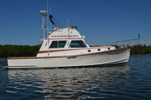 Used Wilbur Flybridge Cruiser (rebuilt & Launched IN 1994) Downeast Fishing Boat For Sale