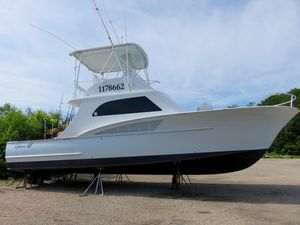 Used Custom Carolina Lewis Brothers 41 Flybridge Sportfish Sports Fishing Boat For Sale