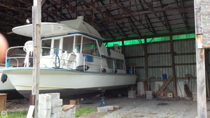 Used Marinette 34 River Cruiser House Boat For Sale