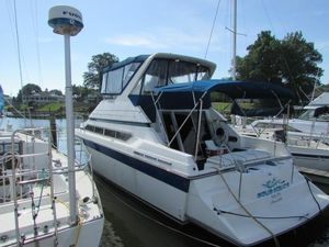 Used Carver 340 Santego Convertible Fishing Boat For Sale