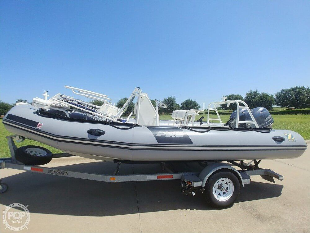 2012 Used Zodiac Pro 650 Center Console Fishing Boat For