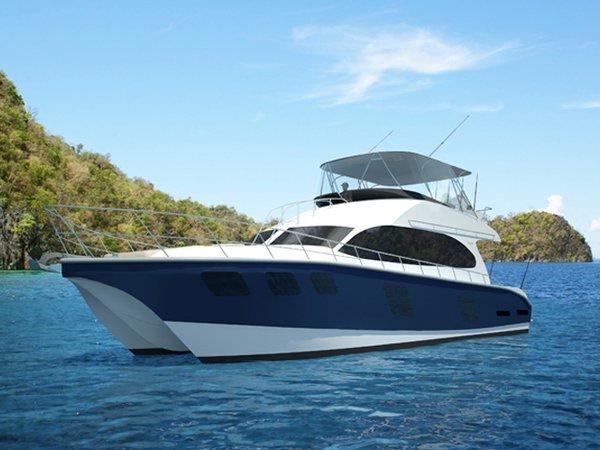New Naval Cat Convertible Motoryacht Catamaran Boat For Sale