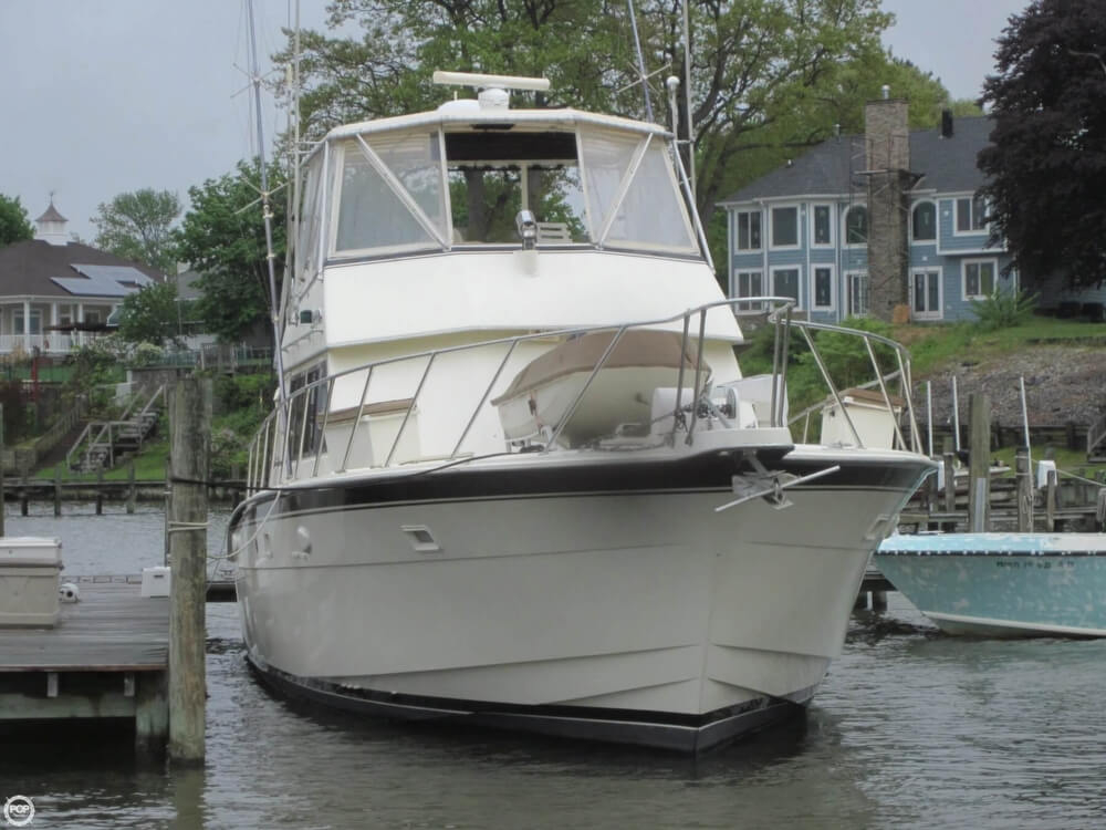 1982 used hatteras 55 convertible sports fishing boat for for Used fishing boats for sale in md